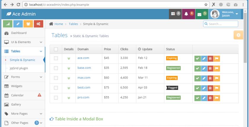 Menerapkan Template Ace Admin Pada Framework Codeigniter